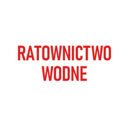 RATOWNICTWO WODNE